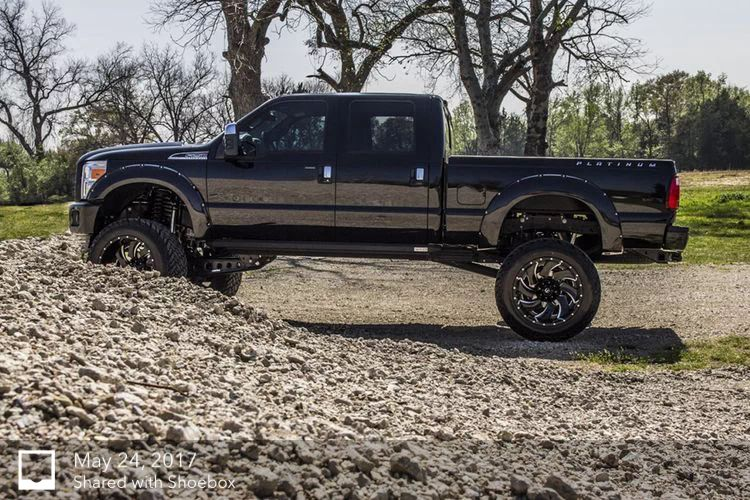 Ford Super Duty equipped with a Fabtech 8