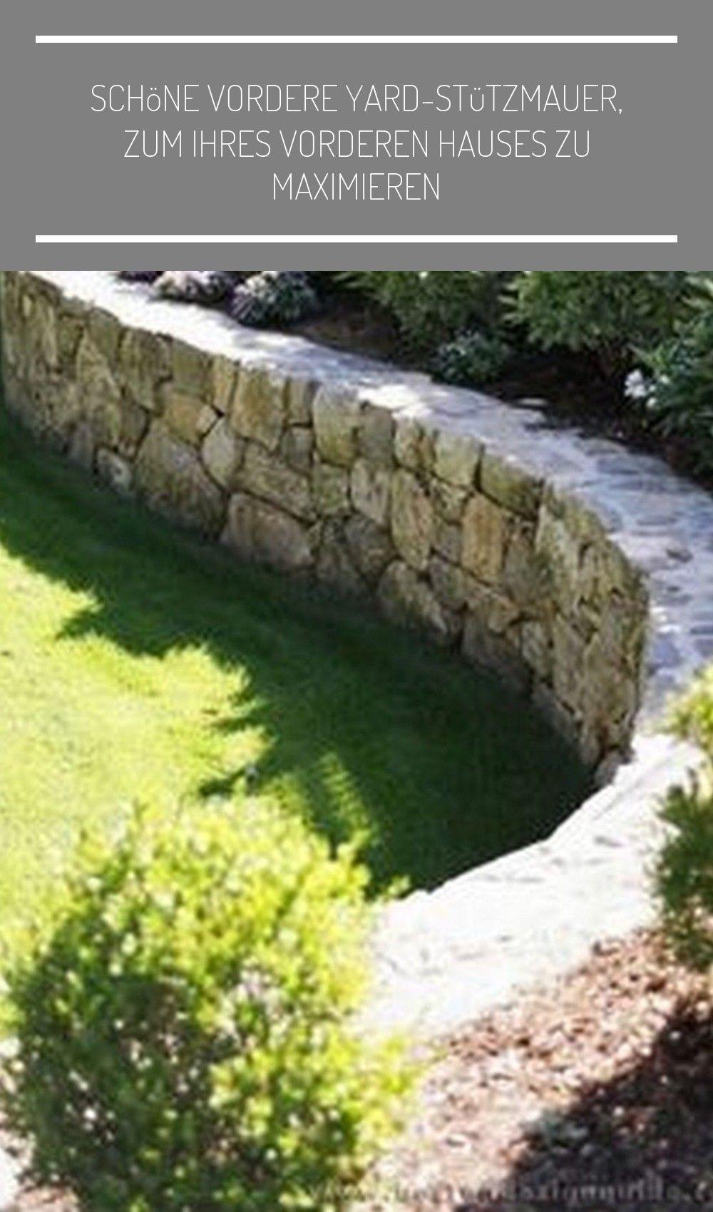 Schone Vordere Yard Stutzmauer En 2020