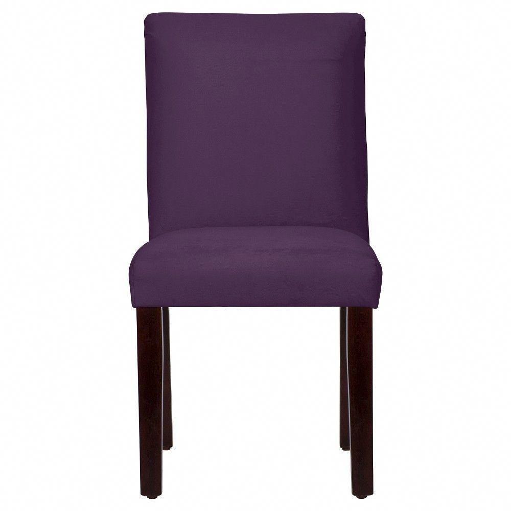 purple dining chairs canada game chair best buy parsons velvet aubergine threshold purplediningchairs