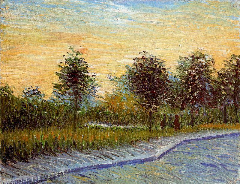 Senda Del Parque Voyer Dargenson En Asnieres Van Gogh 1887