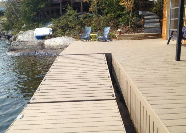 Long Lifespan Composite Floating Marina Decking Project Photo