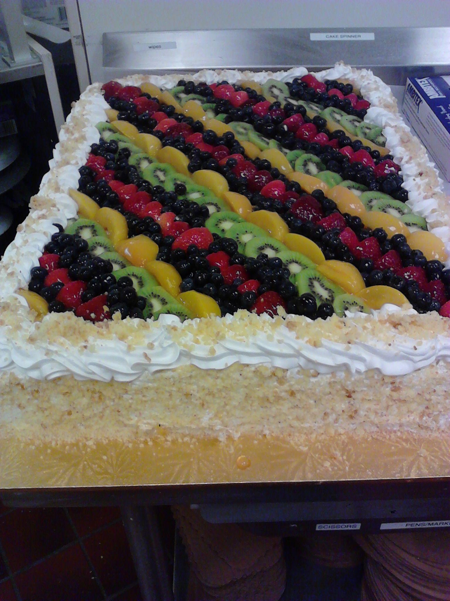 Full Sheet Vanilla Fruit Cake I Made Shaws North Providence
