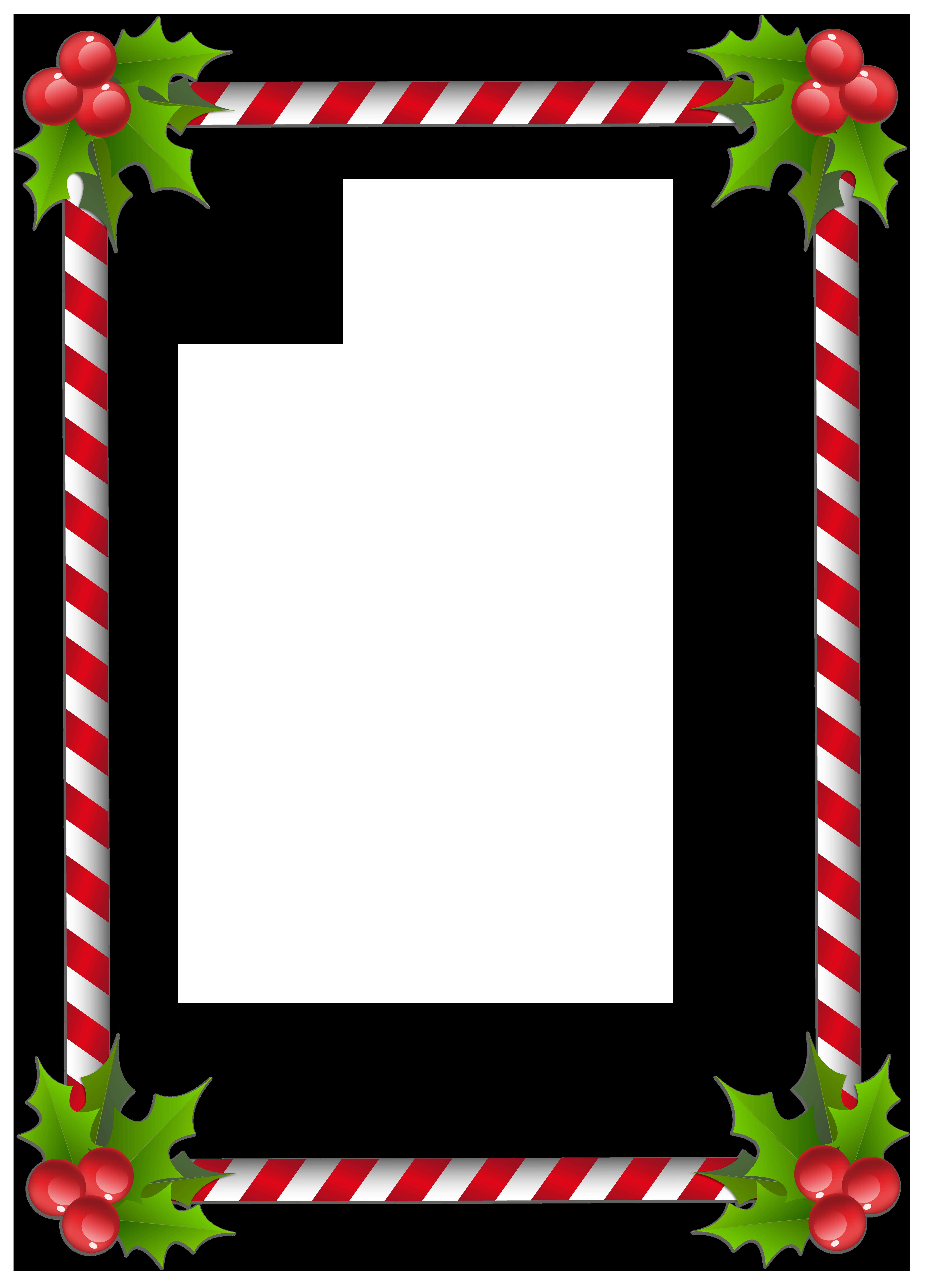 Christmas Transparent Classic Frame Border Christmas