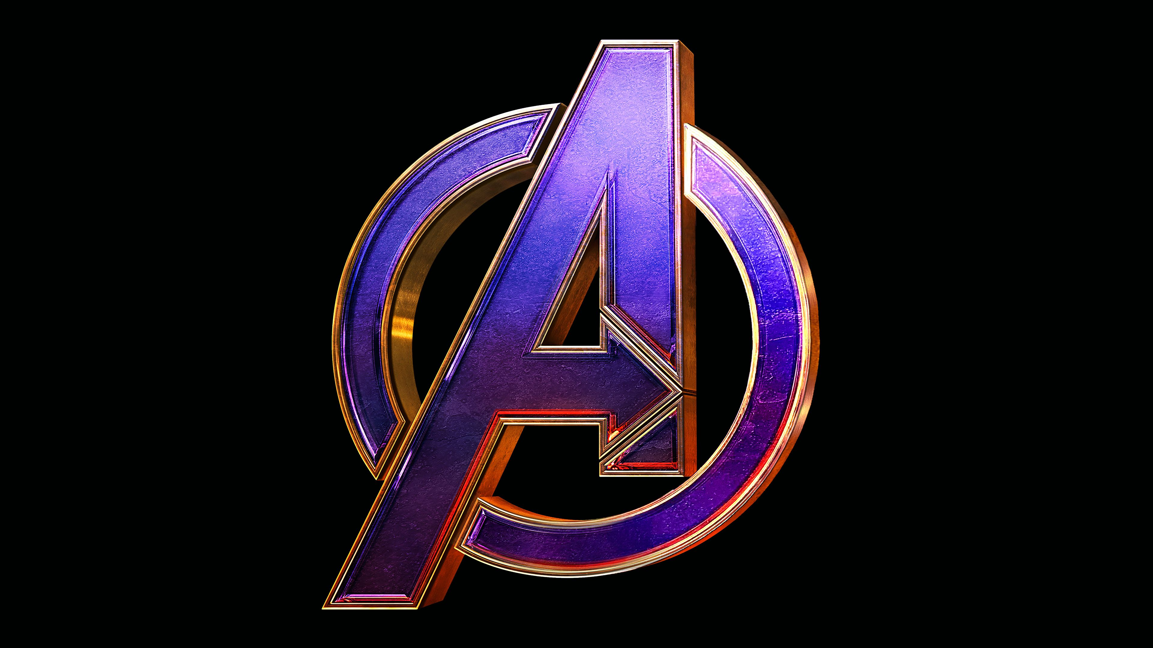 Avengers Endgame Logo 4k movies wallpapers, logo