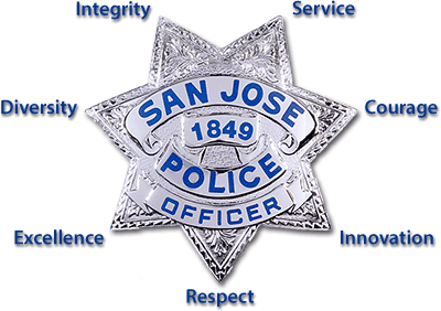 The San Jose Police Department Protecting San Jose California 10th Largest City In America Capital Of Silicon Valley Police Badge Police Fire Badge