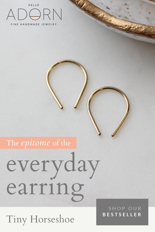 Tiny Horseshoe Earrings