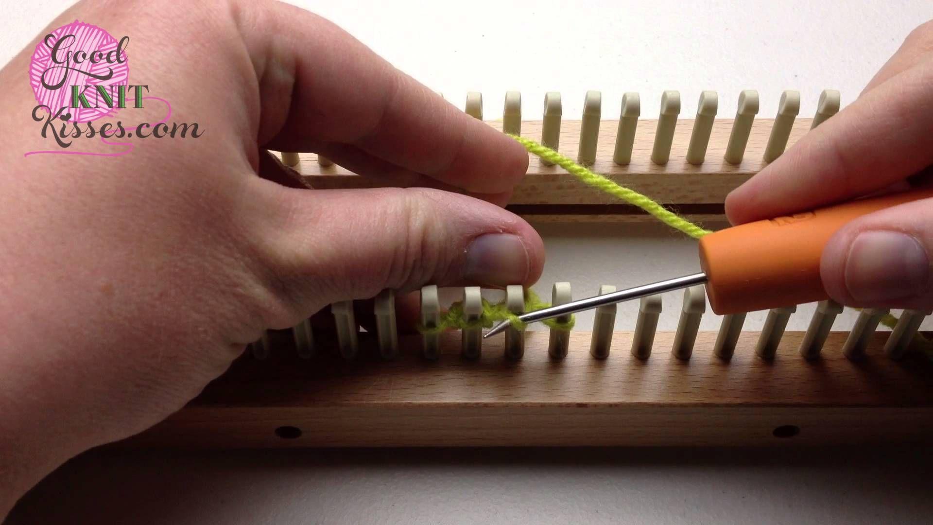 Loom Knit Diamond Lace or Figure 8 Cast on Single Knitting | Loom ...