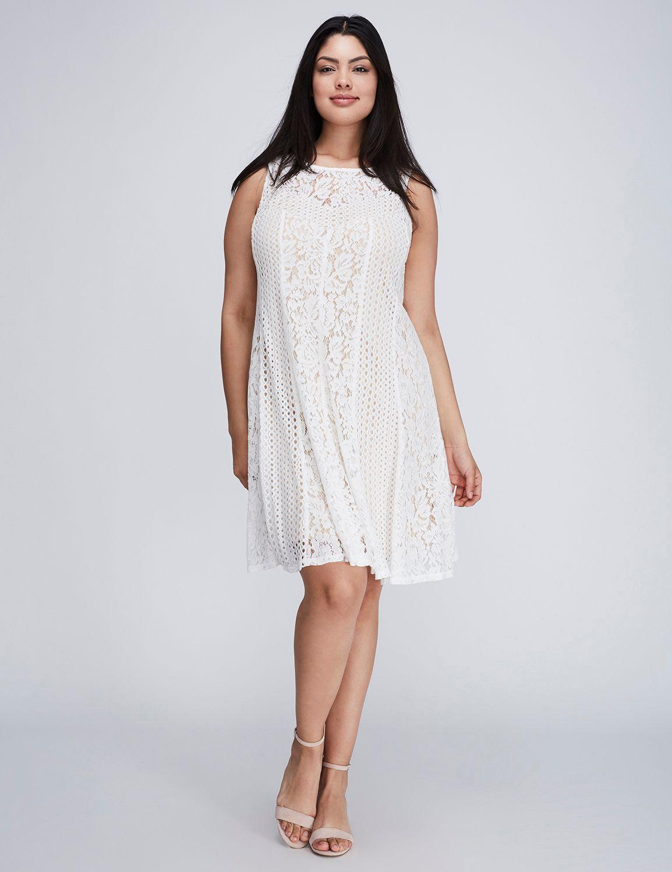 Lace Trapeze Dress By Gabby Skye Lane Bryant Dresses Trapeze Dress Lacy Dress [ 1500 x 1154 Pixel ]