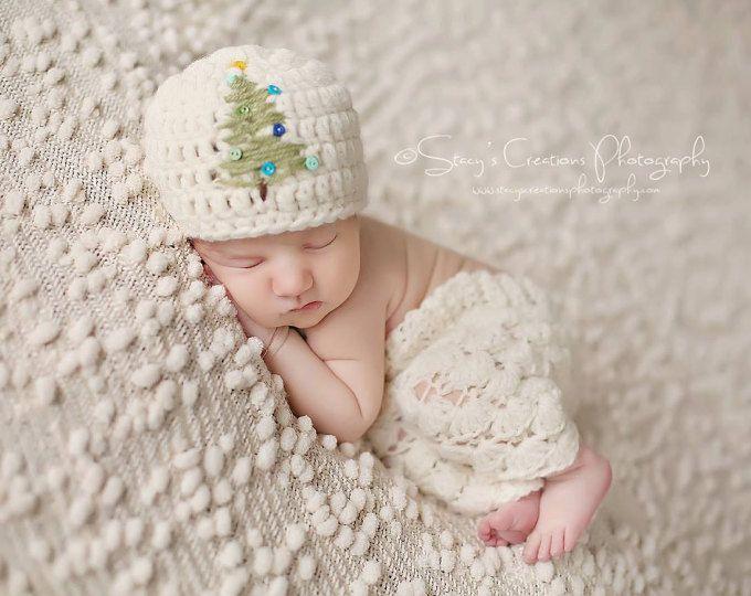 READY Baby Christmas Hat - Ho Ho Ho Baby Boy Hat - Baby Girl Hat ...
