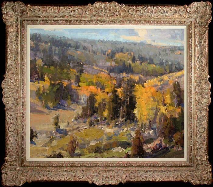"Original Oil Painting art Impressionism Landscape on canvas 20""x24"" #Impressionism"