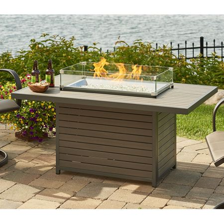 Brooks Outdoor Gas Fire Pit Table With Images Gas Fire Pits Outdoor Fire Pit Table Rectangular Gas Fire Pit