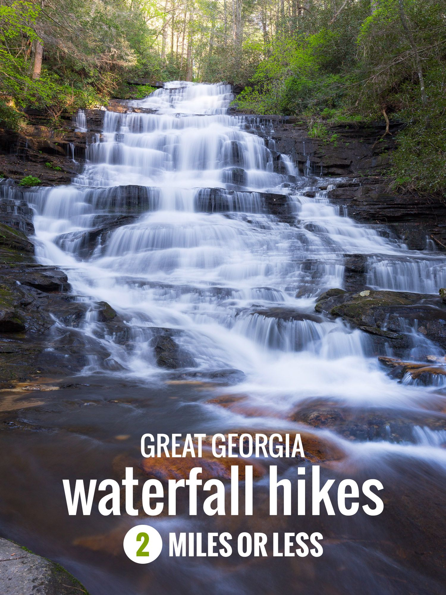 7 Short But Great Georgia Waterfall Hikes Under 2 Miles Georgia Vacation Waterfall Hikes Hiking In Georgia