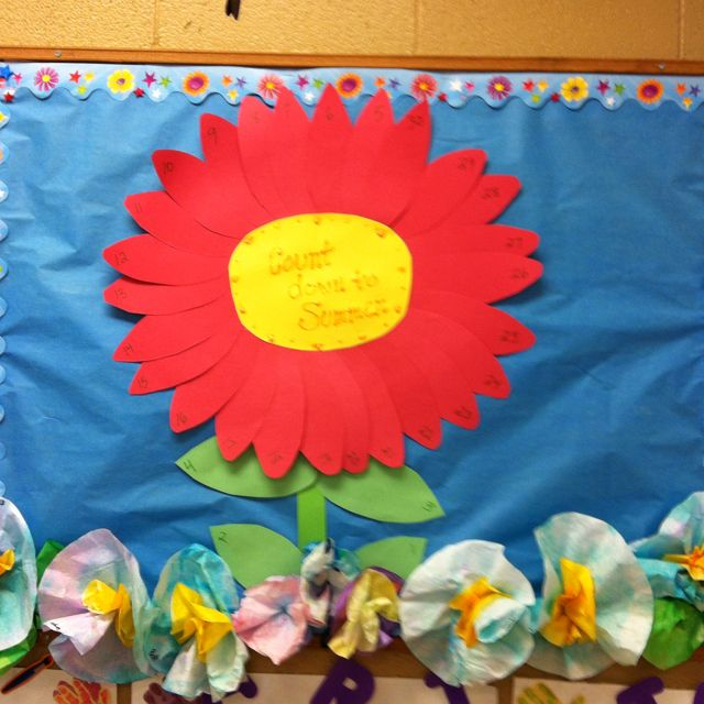 Count down to summer board-everyday we will fold over a petal