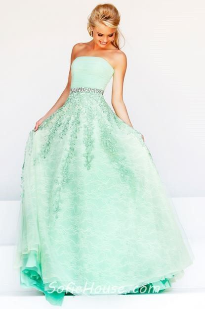 plus size bridesmaid dresses mint green | ... Cute A Line ...