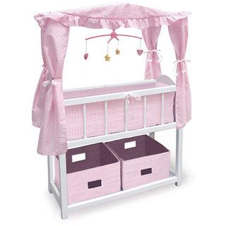 Badger Basket Canopy Doll Crib   Overstock™ Shopping   Big Discounts On Badger  Basket Furniture U0026 Accessories