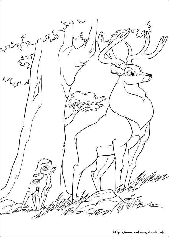 Bambi 2 coloring picture | Bambi | Pinterest | Coloriage, Tatoo et ...
