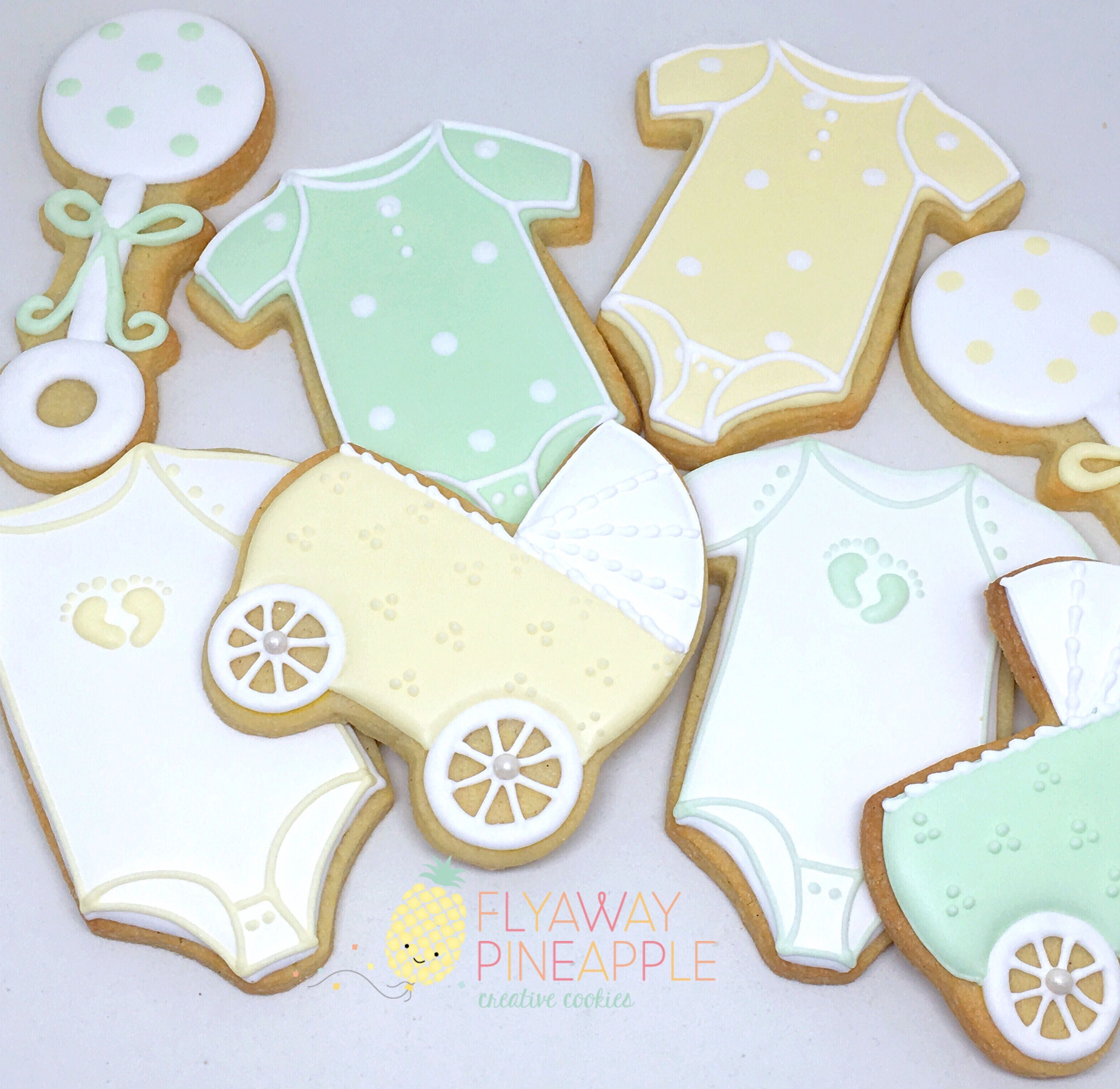 Baby Shower Cookies Baby Shower Baby Cookies Rattle Cookies
