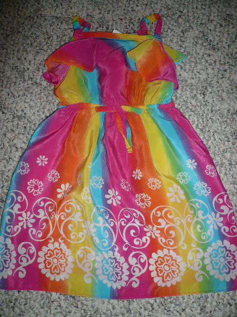 c402f342f5 Youngland girl size 4T multi-color floral trim sun dress  OldNavy ...