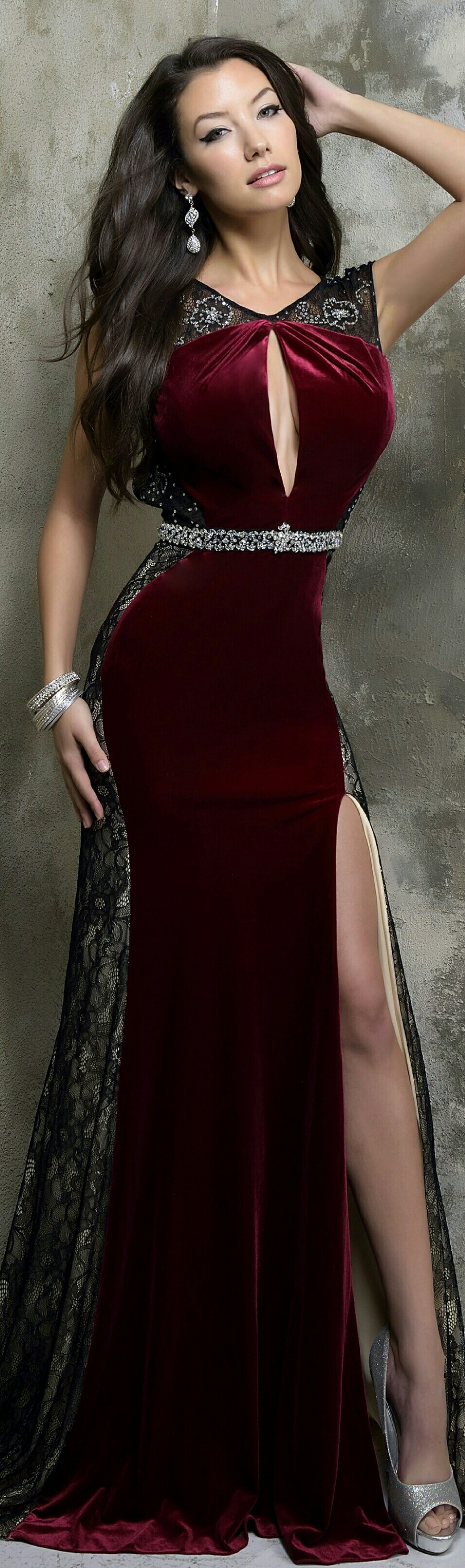 Burgundy velvet evening gown dresses pinterest gowns and prom