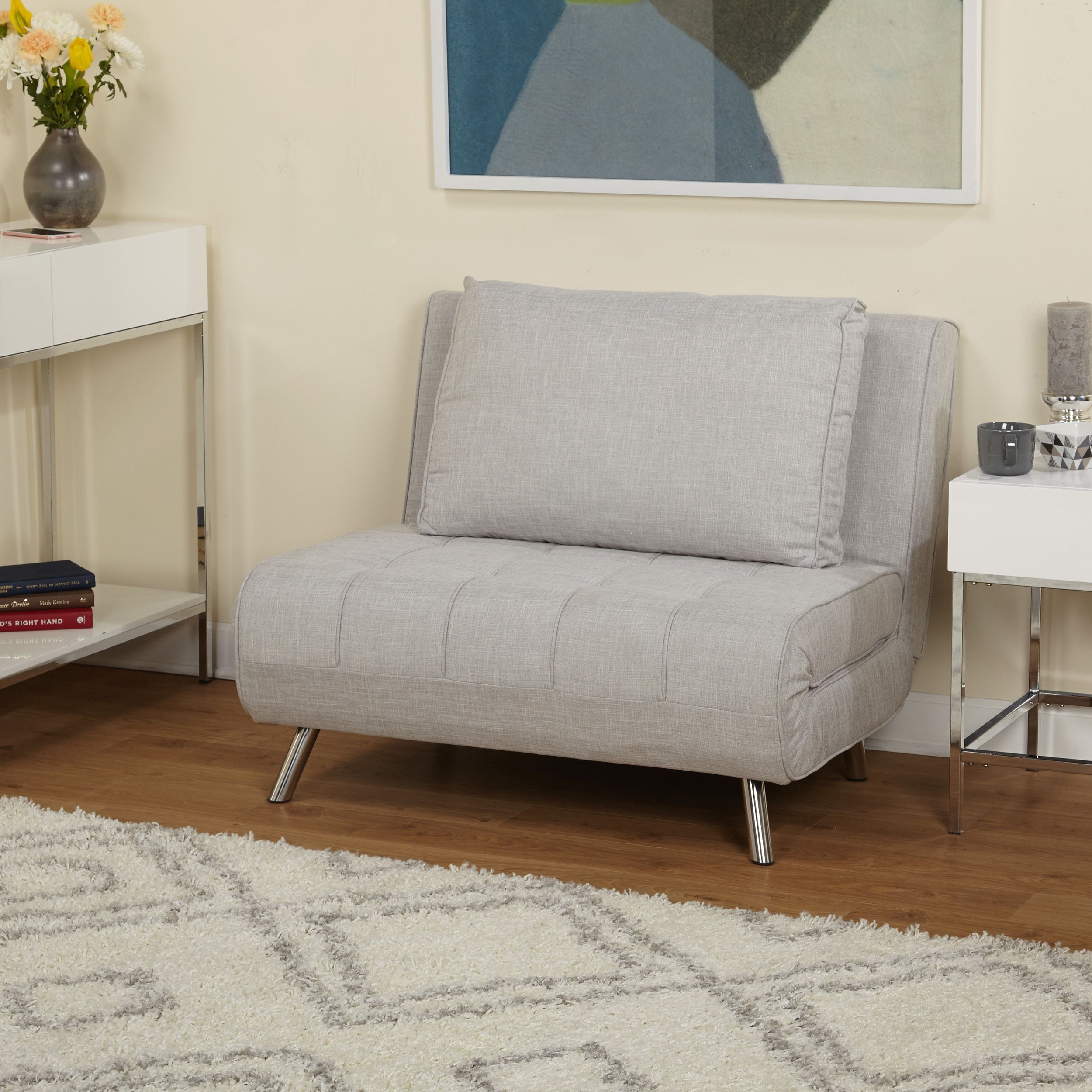 simple living victor futon chair bed futon chair bed grey