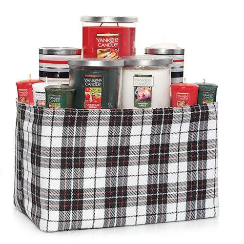 Large Plaid Basket : Gift Set : Yankee Candle | Candle ...
