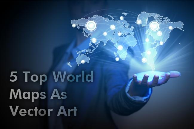 5 Top World Maps As Vector Art Stock image websites