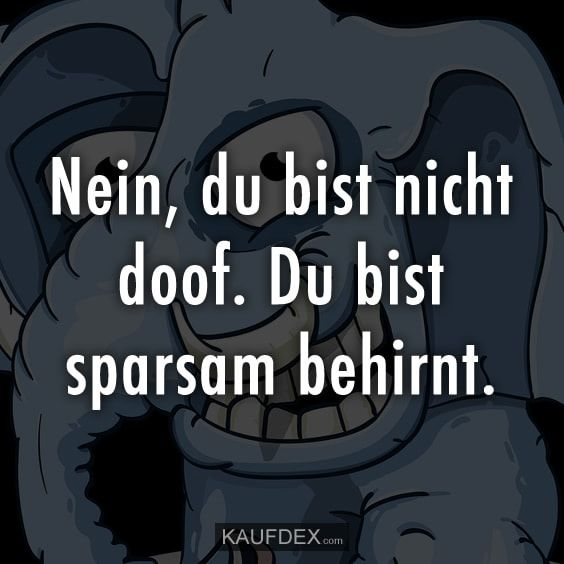 No, you are not stupid. You are sparingly - Lustige - Zitate - humor