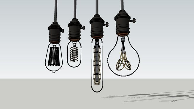 Large preview of 3D Model of Edison lamp | 3D SketchUp Models ...