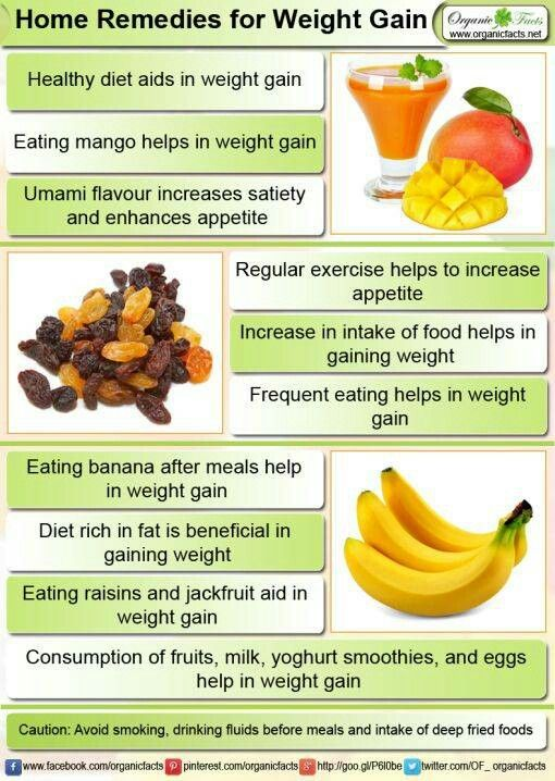 Remedies For Gaining Weight Healthy Stuff Pinterest Healthy