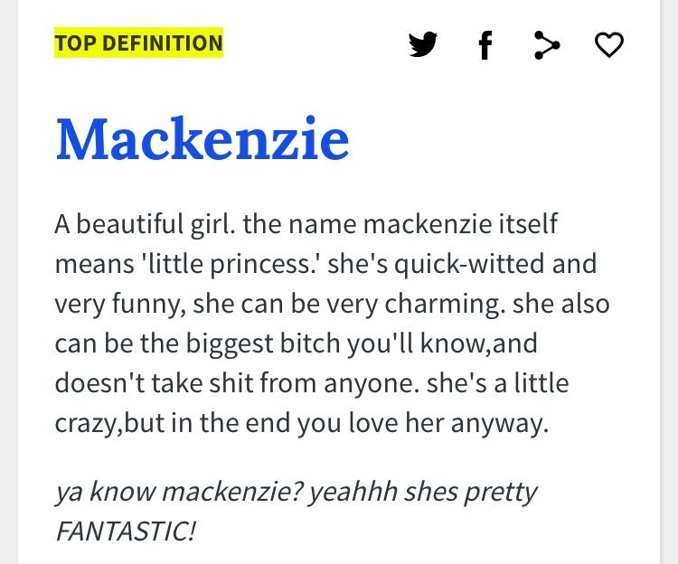 a brief description of the name mackenzie found from the