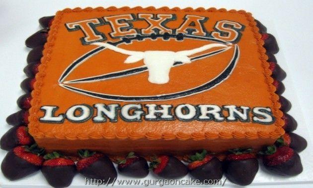 Groovy Texas Longhorn Birthday Cakes Texas Cake Texas Longhorn Cake Personalised Birthday Cards Veneteletsinfo