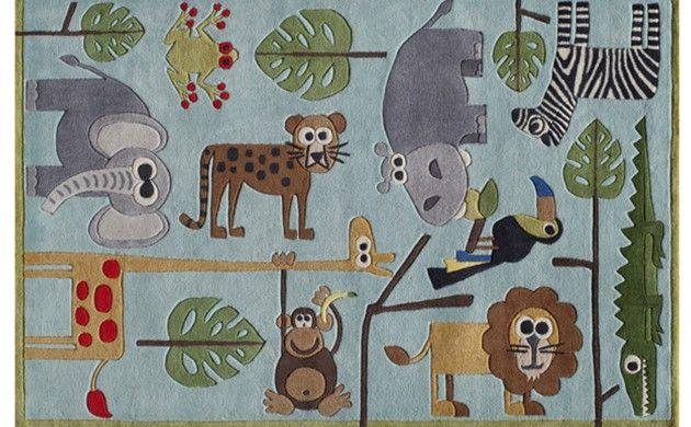 Silly Safari Rug For A Jungle Themed Nursery Animal Rug