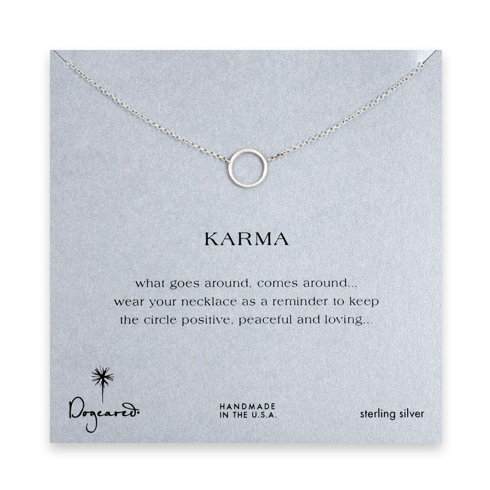 simple karma necklace, sterling silver - 18 inches #dogeared #simplestatement