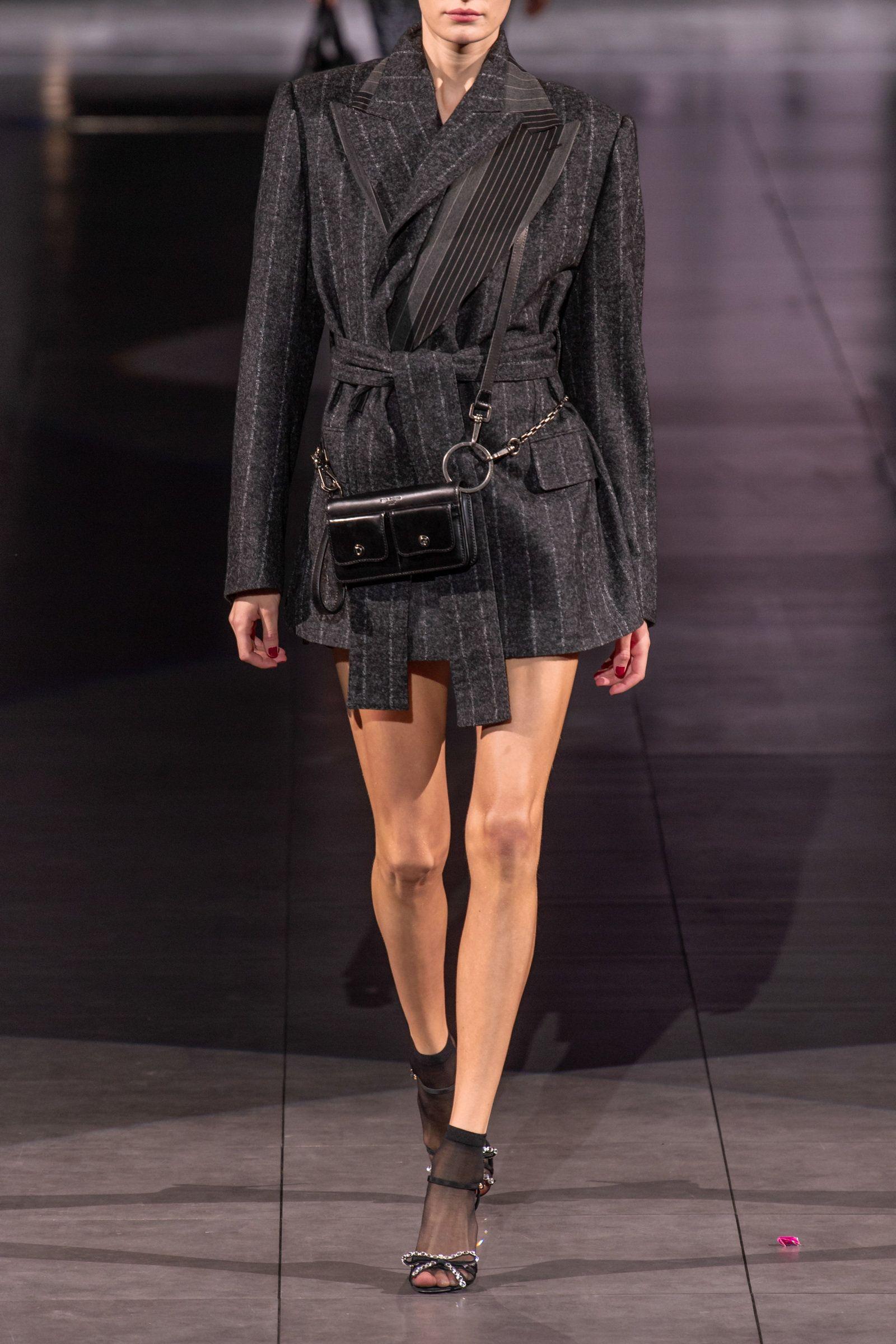 Dolce & Gabbana Belted Pinstriped Cady Blazer