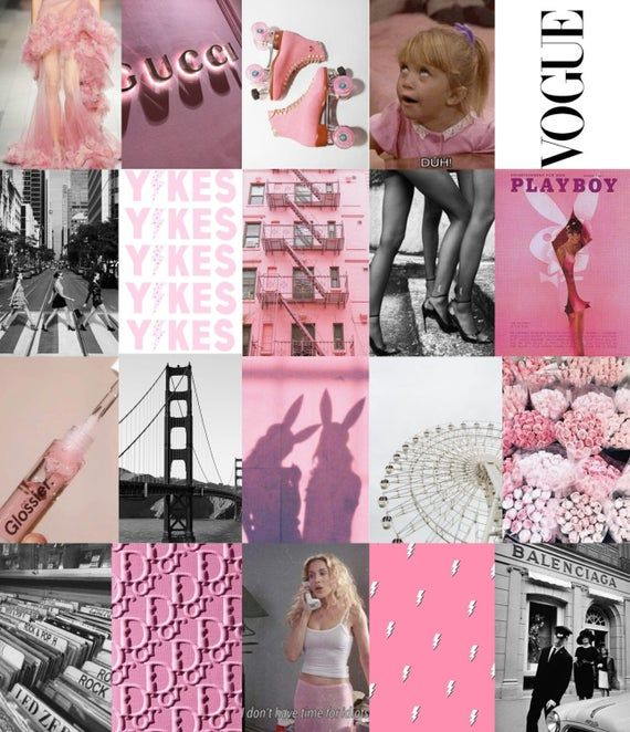 Hollywood Wall Collage Kit - DIGITAL -   16 pink wall collage ideas