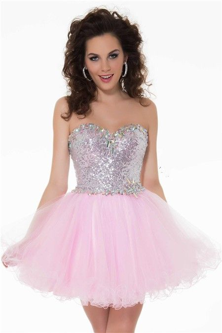 1000  images about Short pink prom dress on Pinterest  Lace prom ...