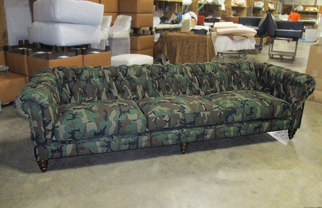 Comfortable Couch Company Camo Field Project Camuflaje Living