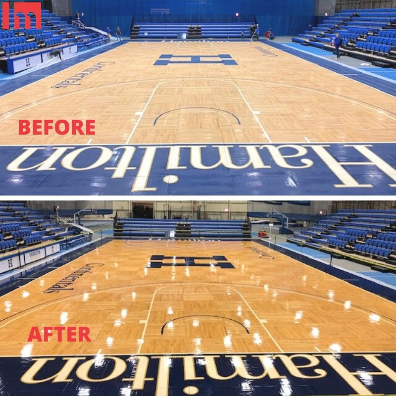 The Gym Floor At Hamilton College Got A Refresh Over Winter Break Thanks To Our Bona Sport System And The Specialists A In 2020 Sports Gym Flooring Recreation Centers