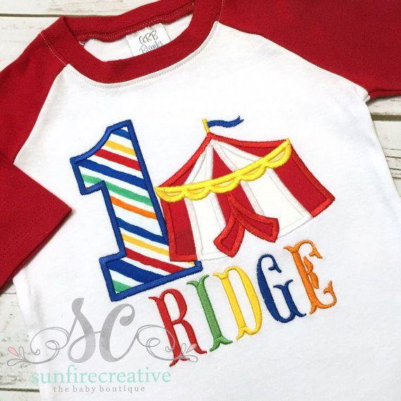 92447fa1 Carnival Birthday Shirt - Circus Birthday - Boy Birthday Shirt - First  Birthday…