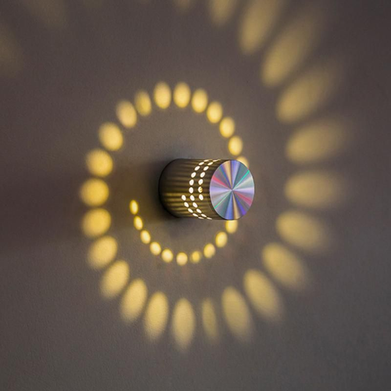 Spiral Effect Wall Lamp #lights