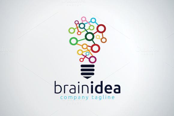 Brain Logo Template Brain Logo Logo Templates Logo Design