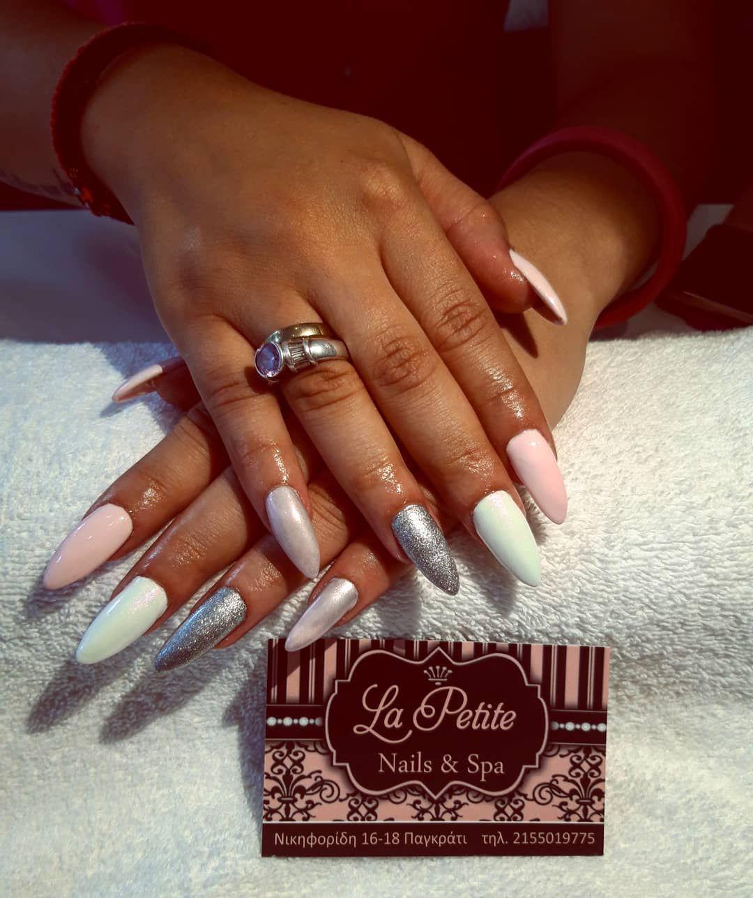 My Job Nails Nailart Instanails Nailstagram Acrygel Pink