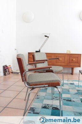 Vintage Chaises de Duba, Danemark - 300€ la paire - A vendre ... on chaise recliner chair, chaise sofa sleeper, chaise furniture,