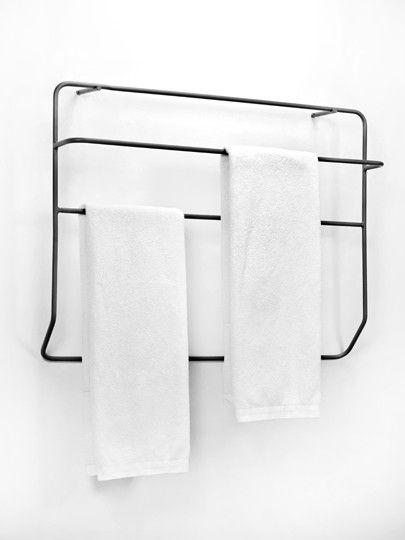 Zwart handdoekrek in ijzer | Pinterest - Zwart, Badkamer en Badkamers