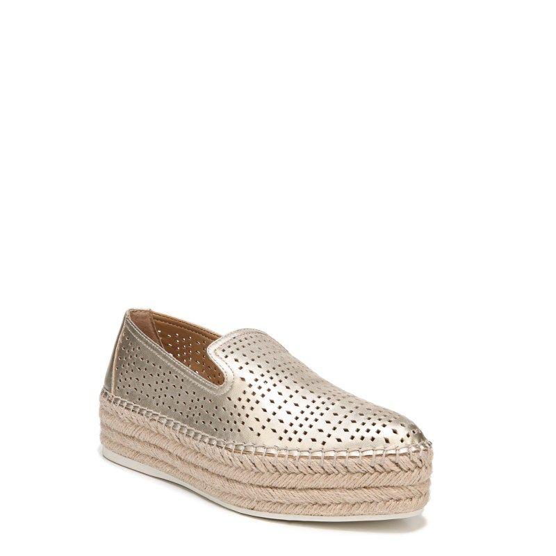 abf23b6420d Franco Sarto Women s Elliot Espadrille Platform Slip On Shoes (Platino  Leather)
