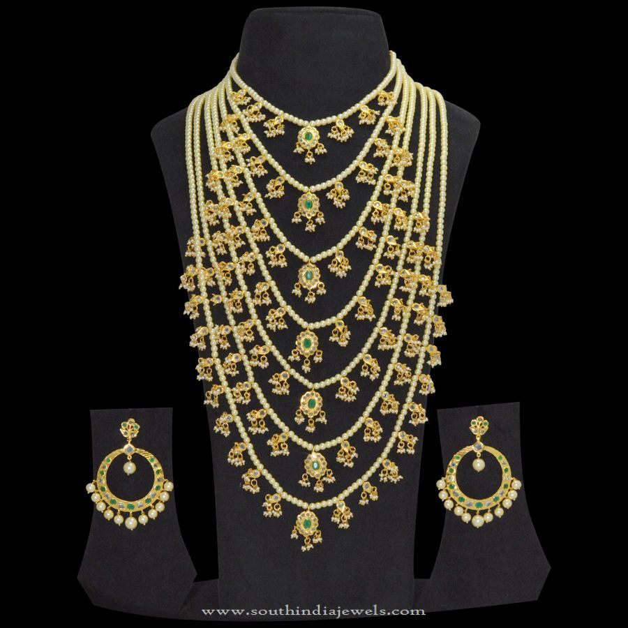 One Gram Gold Satlada Pearl Necklace   Pearl necklace, Pearls and ...