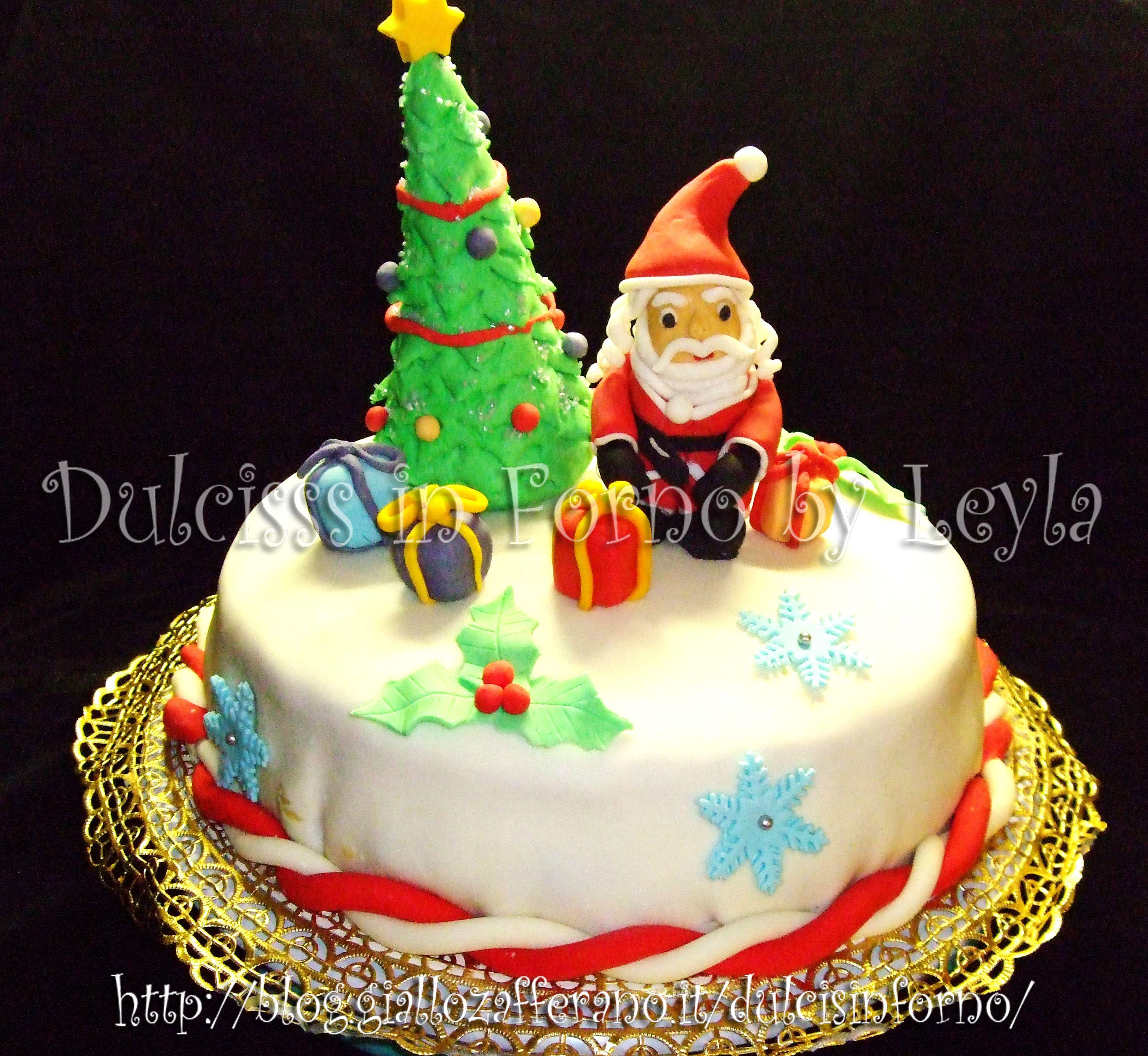 Torte Decorate Per Natale torta natalizia decorata: la mia prima torta decorata per
