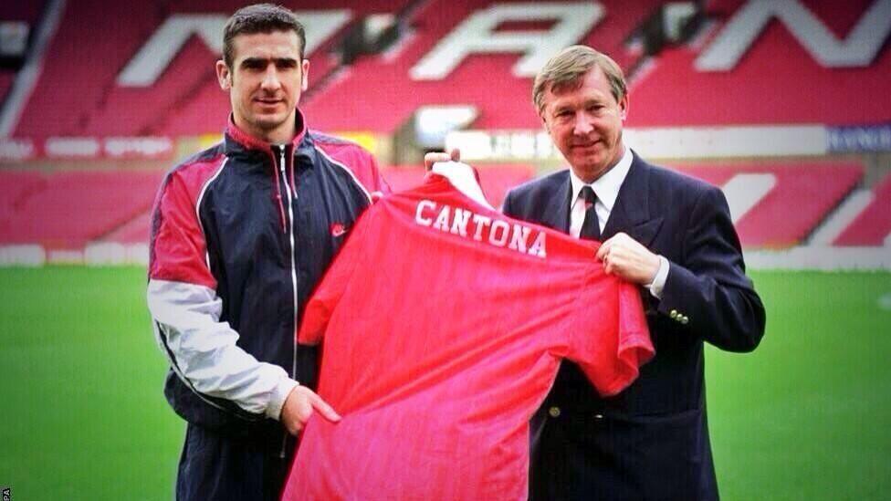 The french, he retired with. Eric Cantona & Sir Alex Ferguson   Sir alex ferguson ...