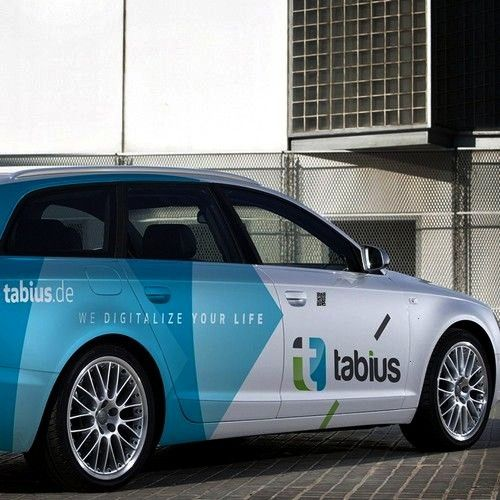 a great car-design for German IT company (Audi A6 2006) Car, truck or van wrap contest design#car#t
