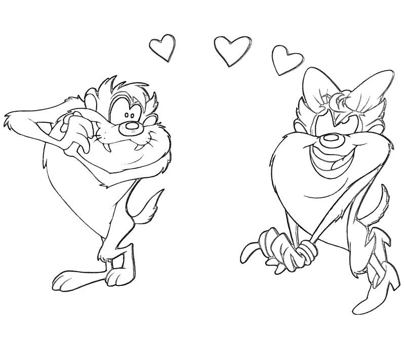 taz coloring pages - Google Search | Coloring-Looney Tunes | Pinterest